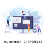 internet online teamwork....   Shutterstock .eps vector #1409458163