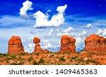red rock canyon desert... | Shutterstock . vector #1409465363