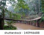 The Bamboo Rope Bridge In Tad...