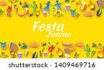 festa junina festival design on ...   Shutterstock .eps vector #1409469716