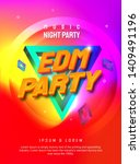 dj electronic music party... | Shutterstock .eps vector #1409491196