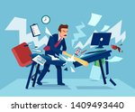 vector of an angry businessman... | Shutterstock .eps vector #1409493440