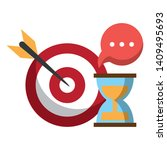 target and hourglass icon... | Shutterstock .eps vector #1409495693