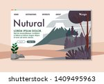 landscape view of the isolated... | Shutterstock .eps vector #1409495963