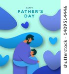 happy father's day greeting... | Shutterstock .eps vector #1409514446