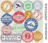 auckland new zealand set of... | Shutterstock .eps vector #1409521616