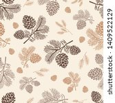 Seamless Pattern Pine Cone...