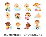 children playing with toys.... | Shutterstock .eps vector #1409526743