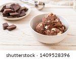Chocolate Ice Cream Bowl With...