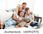portrait of ecstatic family... | Shutterstock . vector #140952970
