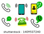 telephone incoming call   vector
