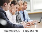business people bored during a... | Shutterstock . vector #140955178