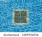 Pulsating Blue Pool Water With...