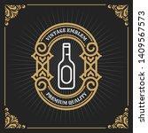 vintage luxury banner template... | Shutterstock .eps vector #1409567573