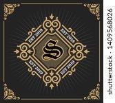 vintage luxury banner template... | Shutterstock .eps vector #1409568026