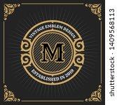 vintage luxury banner template... | Shutterstock .eps vector #1409568113