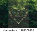 emerald greenery forest foliage ... | Shutterstock .eps vector #1409580926