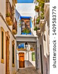 picturesque homes and balconies ... | Shutterstock . vector #1409583776
