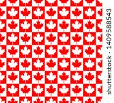canada day vector patterns in... | Shutterstock .eps vector #1409588543