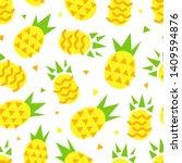 pineapple seamless pattern.... | Shutterstock .eps vector #1409594876