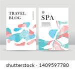 abstract leaves poster... | Shutterstock .eps vector #1409597780