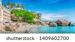 nerja  costa del sol  andalusia ... | Shutterstock . vector #1409602700
