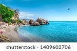 nerja  costa del sol  andalusia ... | Shutterstock . vector #1409602706