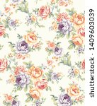 seamless fabric pattern with... | Shutterstock . vector #1409603039