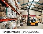 forklift driver carefully... | Shutterstock . vector #1409607053
