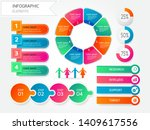 infographic visualization... | Shutterstock .eps vector #1409617556