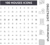 houses line icons  signs ... | Shutterstock .eps vector #1409625980