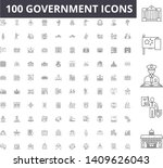 government line icons  signs ... | Shutterstock .eps vector #1409626043