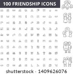 friendship line icons  signs ... | Shutterstock .eps vector #1409626076