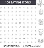 eating line icons  signs ... | Shutterstock .eps vector #1409626130