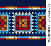 ethnic boho seamless pattern.... | Shutterstock .eps vector #1409631776