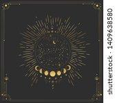 vector illustration set of moon ...   Shutterstock .eps vector #1409638580