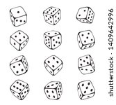 Dice Sketch Set  Chance And...