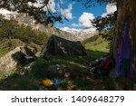 tourist parking under large... | Shutterstock . vector #1409648279