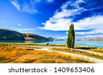 mountain valley river landscape ... | Shutterstock . vector #1409653406