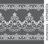 seamless lace vector pattern  ... | Shutterstock .eps vector #1409668526