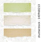 set of vintage paper. vector... | Shutterstock .eps vector #140968213