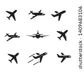 airplane icon set symbol vector ... | Shutterstock .eps vector #1409683106