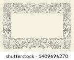 mono line frame. simple... | Shutterstock . vector #1409696270