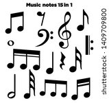 music notes  song  melody and... | Shutterstock .eps vector #1409709800