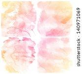 watercolor background. set of... | Shutterstock . vector #140971069