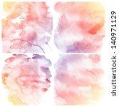 watercolor background. set of... | Shutterstock . vector #140971129