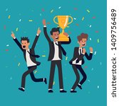 winning and success in business ... | Shutterstock .eps vector #1409756489
