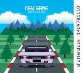 retro videogame  screen arcade... | Shutterstock .eps vector #1409781110