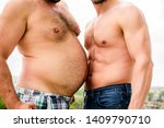 turn beer belly into six packs... | Shutterstock . vector #1409790710