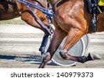 harness racing. racing horses... | Shutterstock . vector #140979373